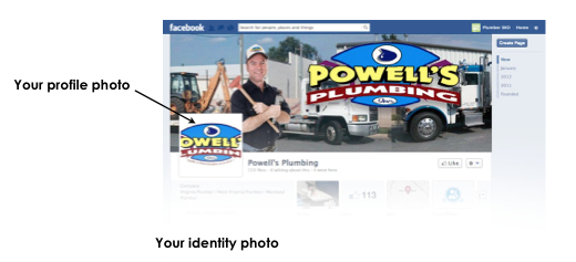 Example of customized Facebook Profile for Contractors