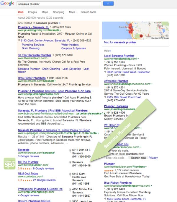 Contractor SEO Case Study - Sarasota Plumber