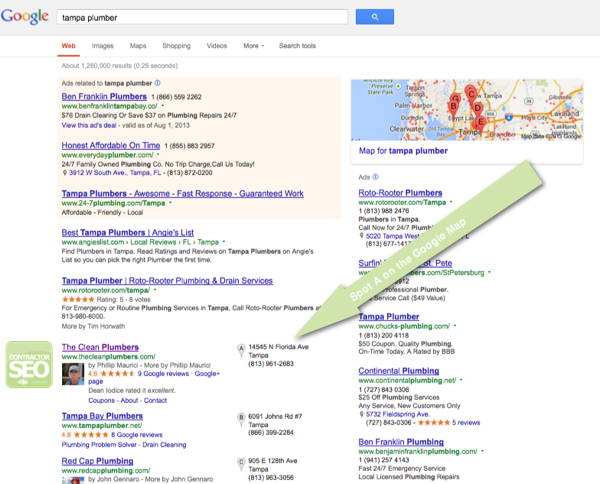 Contractor SEO Case Study - Tampa Plumber